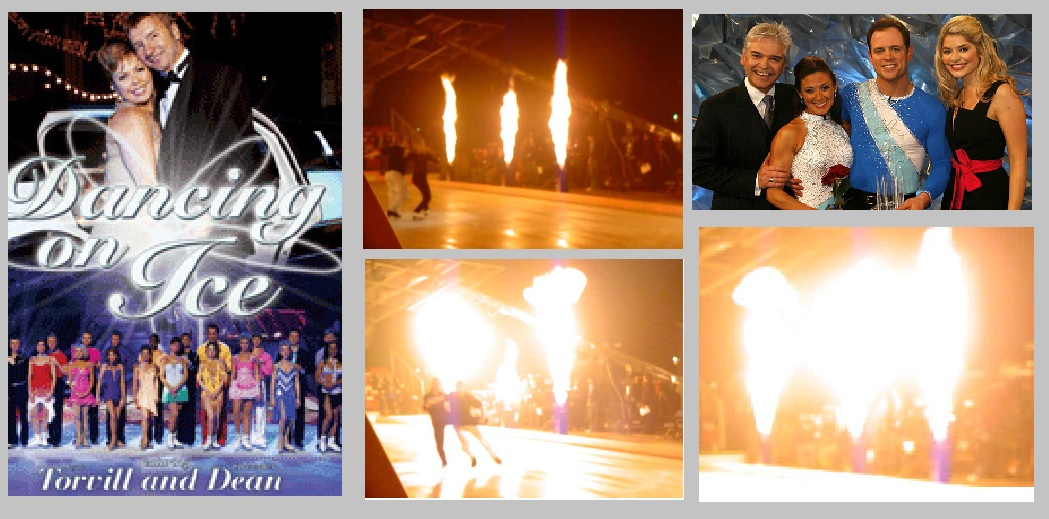 Stage Flame effects for ITV's Dancing on Ice Final