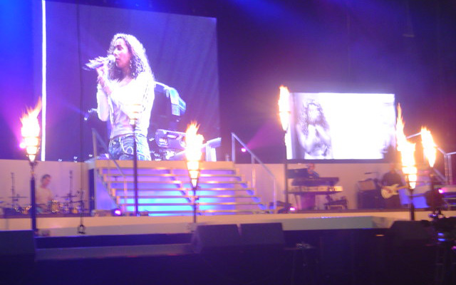 Stage flame effects for X Factor tour