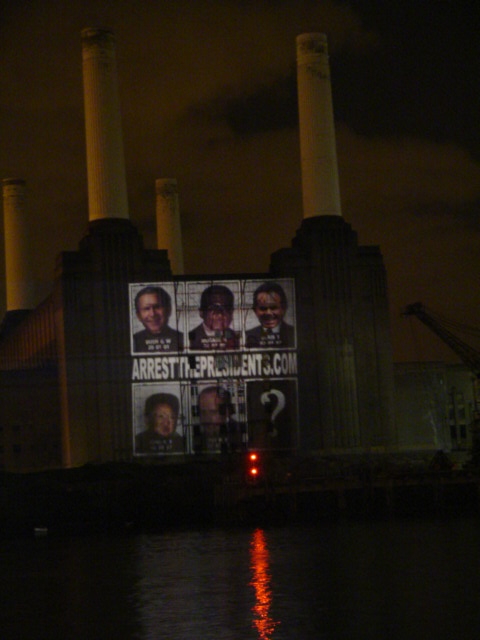 Massive Projection onto Battersea Power Station