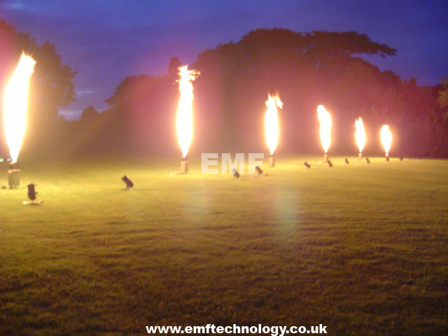 Vulcan Flame effect show Warwick Castle