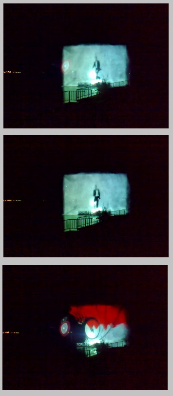 Sony Water screen projection Italy