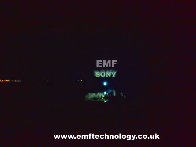 Waterscreen projection show for Sony, Italy