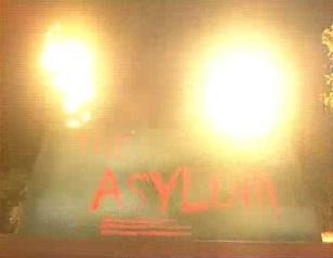 Flame effects, Asylum Thorpe Park
