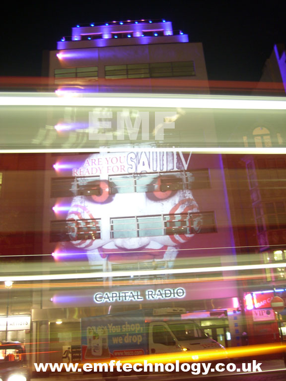 Building Projection for SAW IV Premiere, London