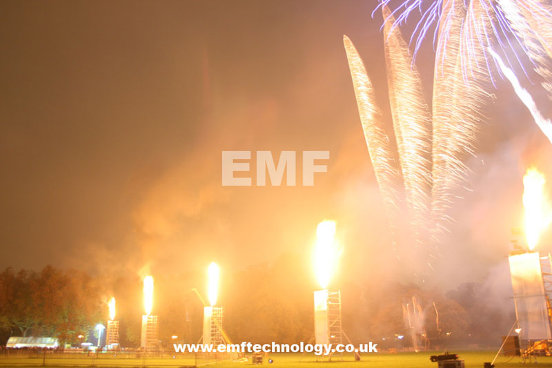 Vulcan Stage Flame Effects Battersea Fireworks