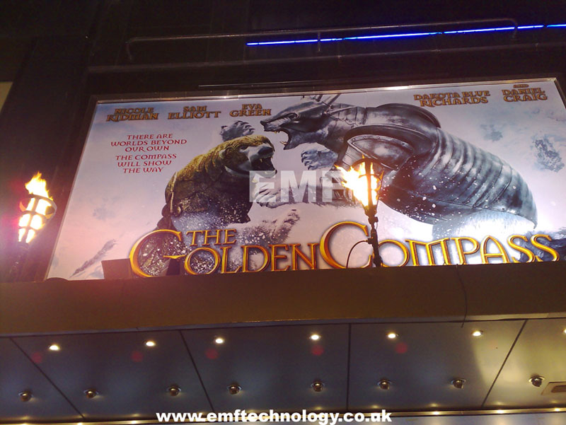 Flame effects for The Golden Compass Premiere