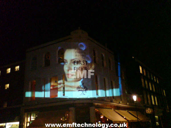 Mobile Video Building Projection campaign