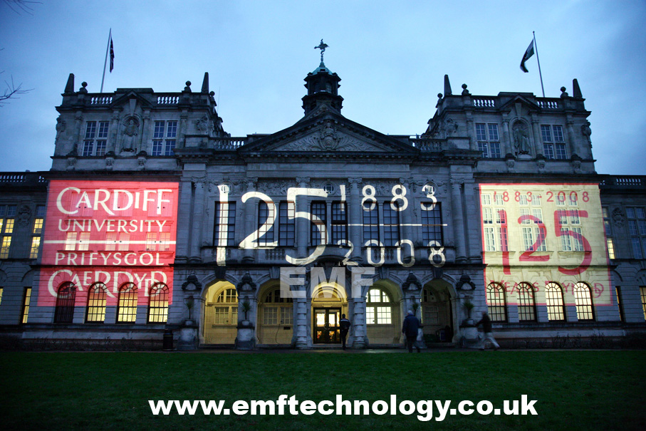 Cardiff University Building Projections