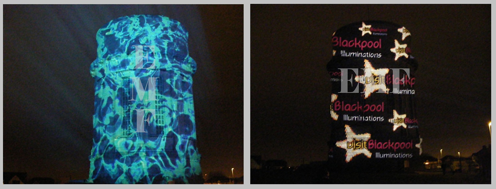 Blackpool Illuminations Visit Blackpool Projection Campaign