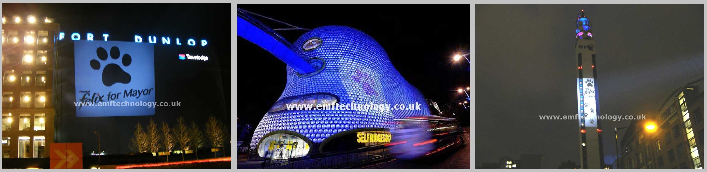 Outdoor Building Projection Advertising Campaign Birmingham