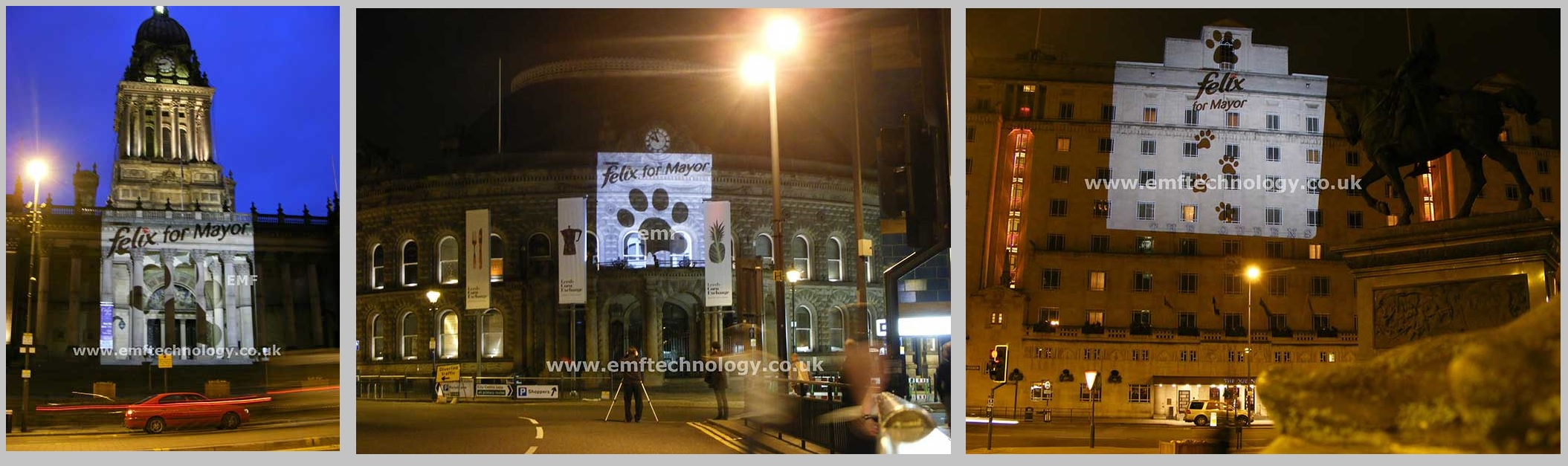 Outdoor Building Projection Advertising Campaign Leeds