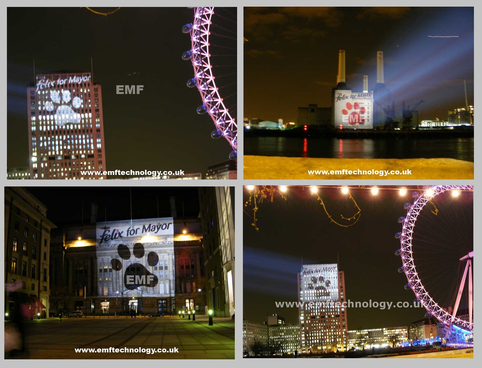 Outdoor Building Projection Advertising Campaign London
