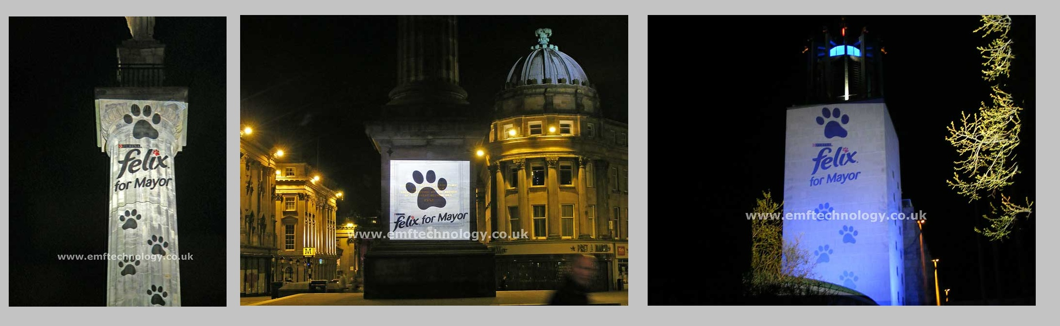 Outdoor Building Projection Advertising Campaign Newcastle