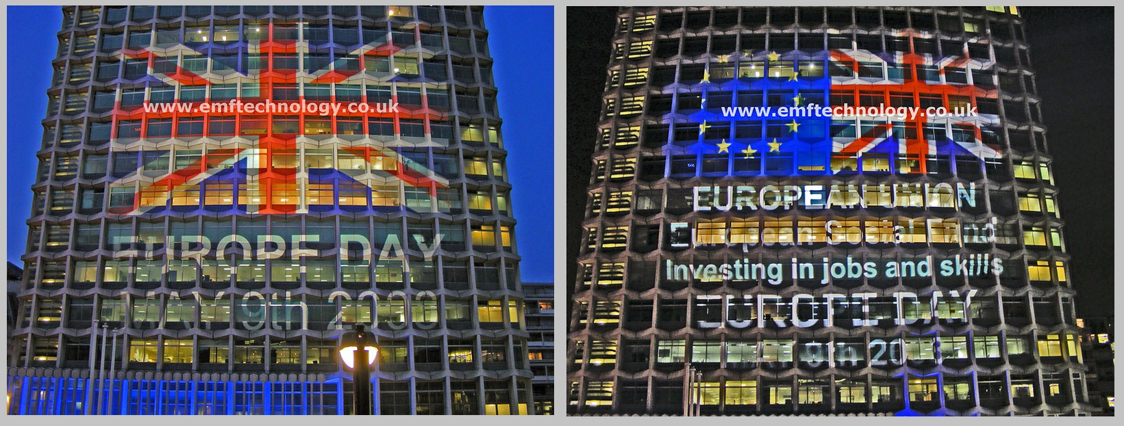 Centrepoint Building Projection for Europe Day