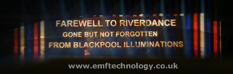 Projection on Riverdance ship, Blackpool