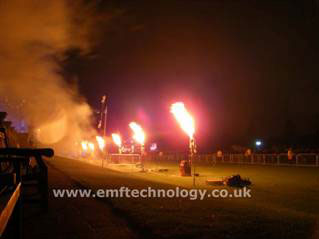 Firestorm Stage Flame effects - Clifton Proms, Bristol