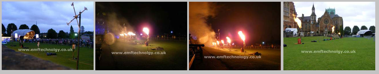 Flame effects for Clifton Proms, Bristol