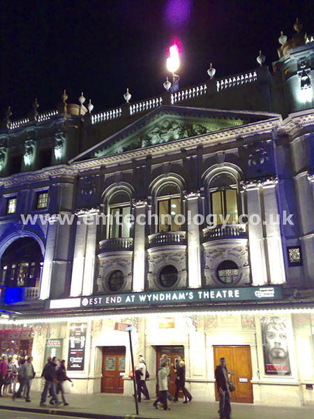 Flame Torch for The Wyndham Theatre
