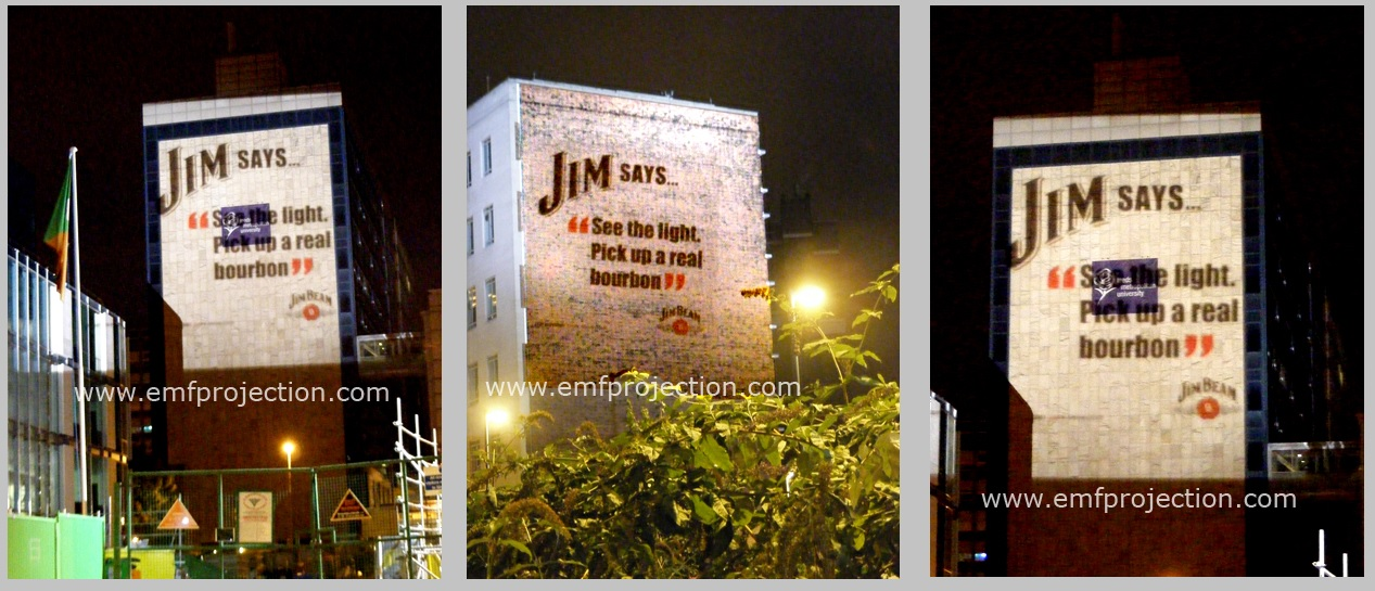 Outdoor Building Projection Campaign for Jim Beam