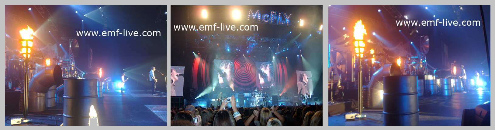 Stage Flame effects - McFly Tour