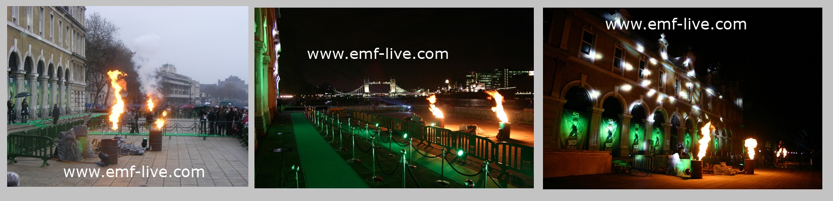 Flame effects for Ben 10 Film Premiere, London.