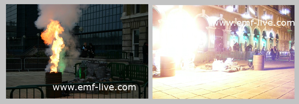 Flame effects for Ben 10 Film Premiere at Billingsgate, London.