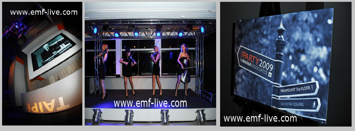Video projection & Plasma screen installations at Centrepoint London Party