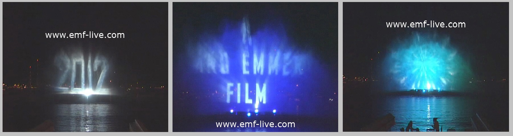 Water screen Projections for Film Premiere 2012 at Cannes Film Festival