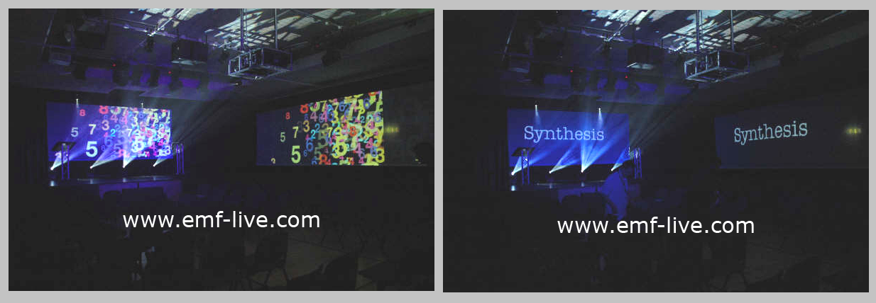 Internal video projection installations for Speedo Swimwear event