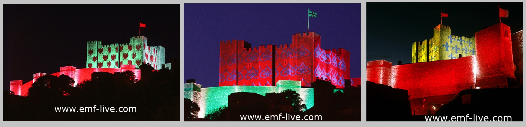 Building Projection Dover Castle