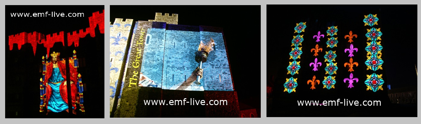 Outdoor Building Projection Dover Castle