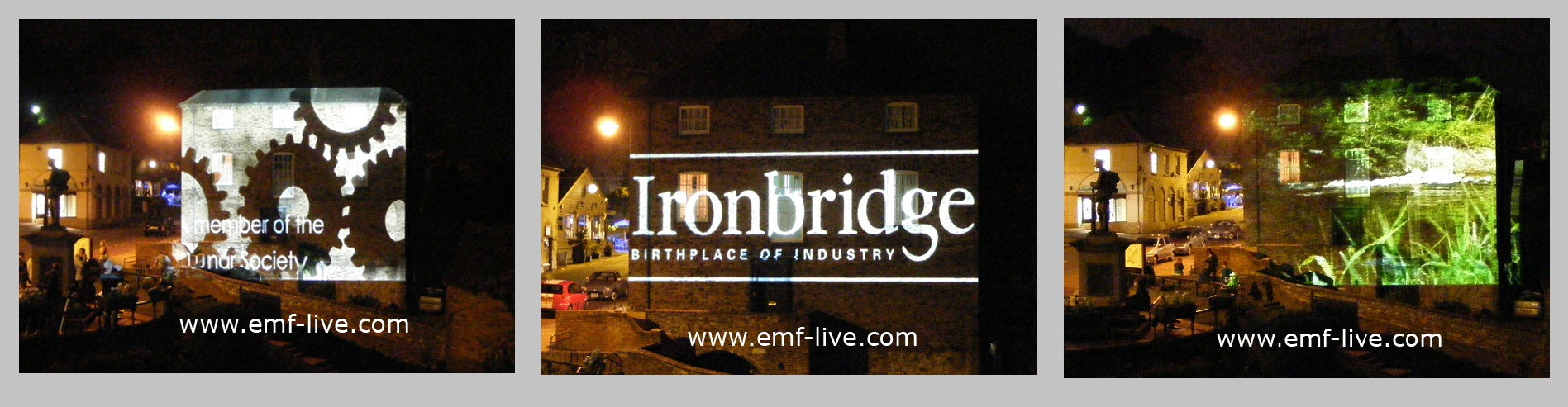Ironbridge Festival world heritage projections