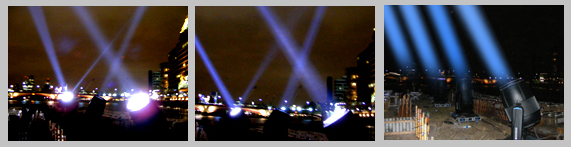 Searchlights for London's Thames Festival