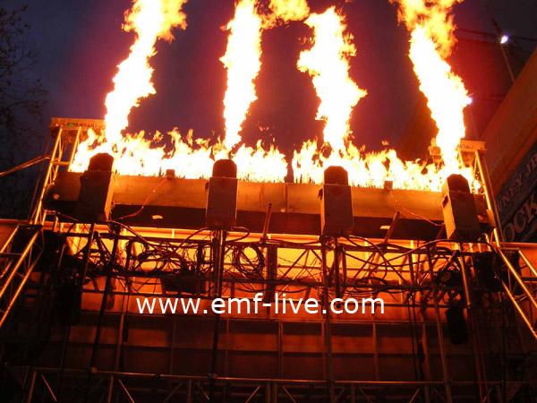 Flame effects for Sherlock Holmes London Film Premiere
