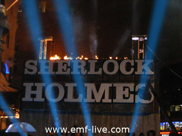 Sherlock Holmes London Premiere Flame effects