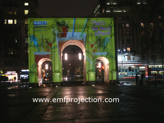 Advertising Projection campaign -Direct Holidays