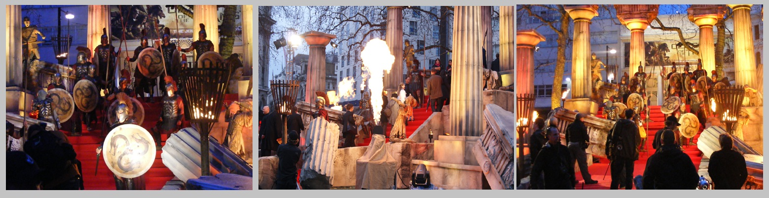Clash of the Titans Premiere flame effects