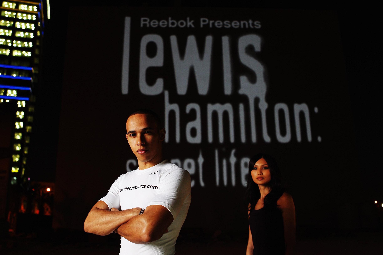 Building Projection Bahrain Lewis Hamilton: Secret Life Launch