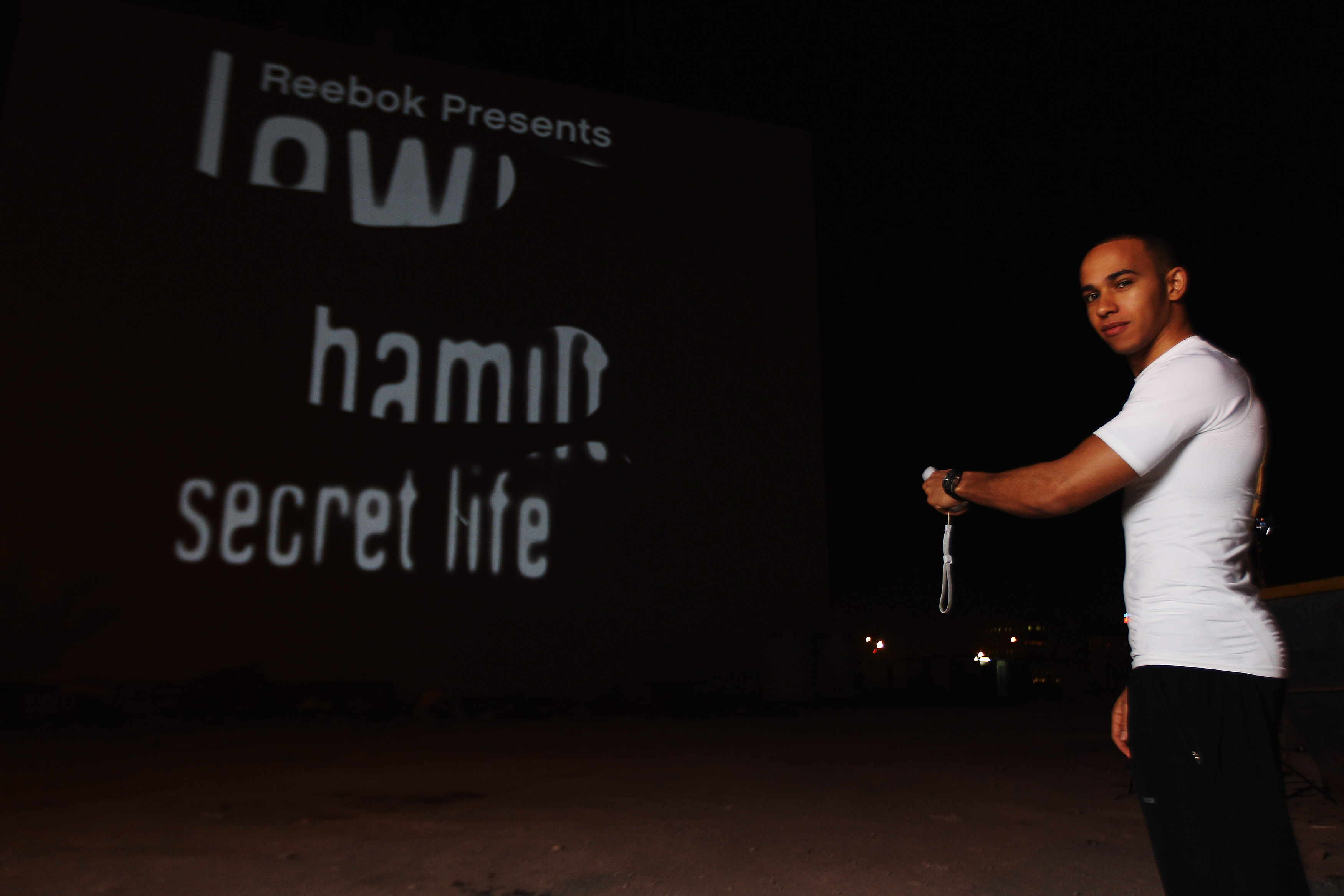 Lewis Hamilton: Secret Life Launch Projection in Bahrain