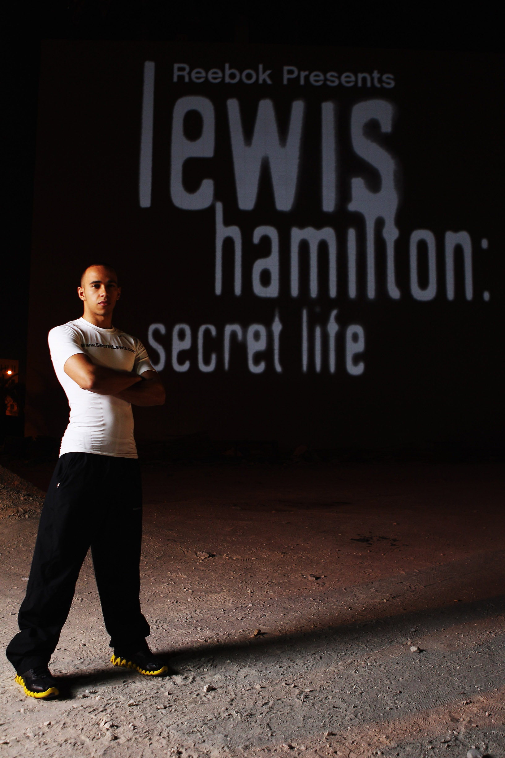 Building Projection Bahrain Lewis Hamilton: Secret Life Launch