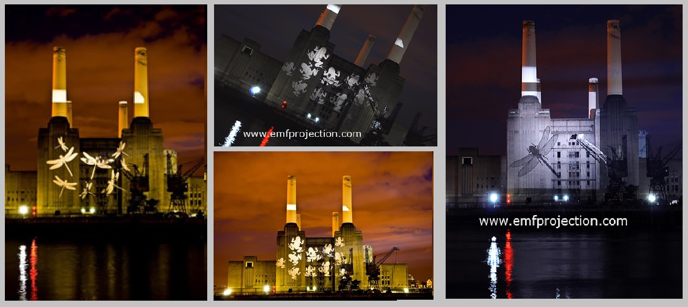 Battersea Power Station Projections for Pond Survey Launch
