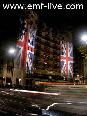 The Dorchester Building Projection for Fashion for the Brave