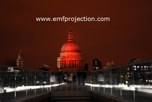 Massive outdoor projection turns St Paul's red for World Aids Day