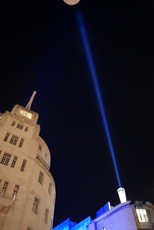 Searchlight Light Sculpture for BBC fallen Newsreaders