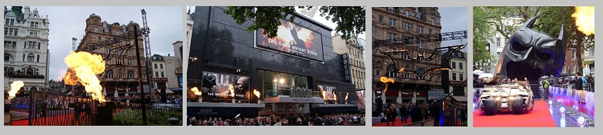 The Dark Knight Premiere flame effects London