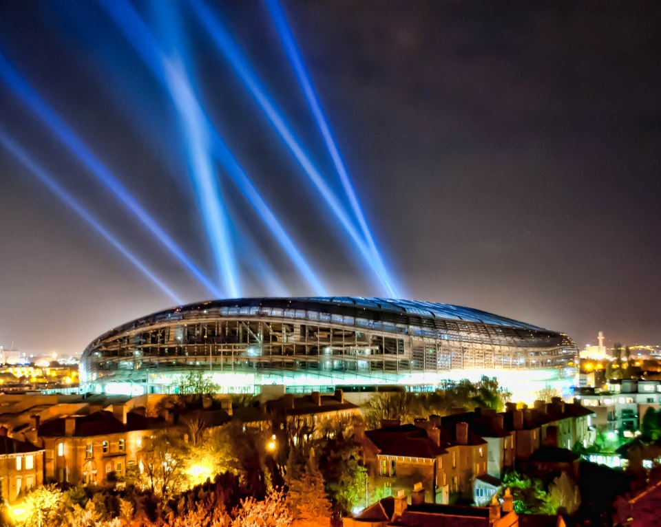 Searchlights hire for Aviva Stadium, Dublin