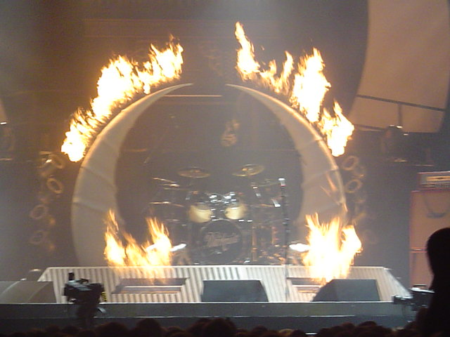 The Darkness Tour bespoke flame effect