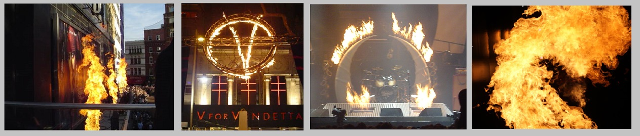 Flame effects, Leicester Square London