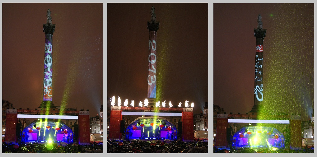 Nelson Column searchlights and projections