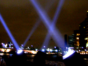 Thames Festival searchlights
